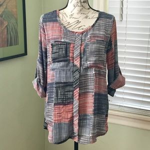 Papermoon Stitchfix 3/4 sleeve top